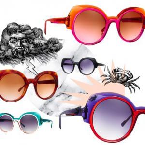 Caroline Abram célèbre l'été avec sa lunette solaire Tiffany