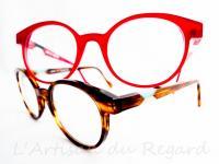 Anne et valentin lunettes rouge