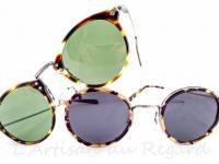 Masunaga lunettes de soleil métal