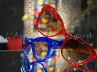 Kirk & Kirk lunettes rouge transparent