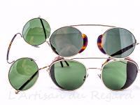 LGR lunettes solaires rondes
