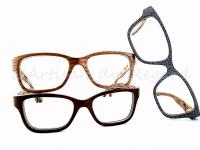 Woodone lunettes en bois rectangle